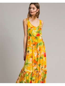 Vestido TWISNET estampado amarillo